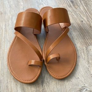 Lulu's Slide in Sandals Brown